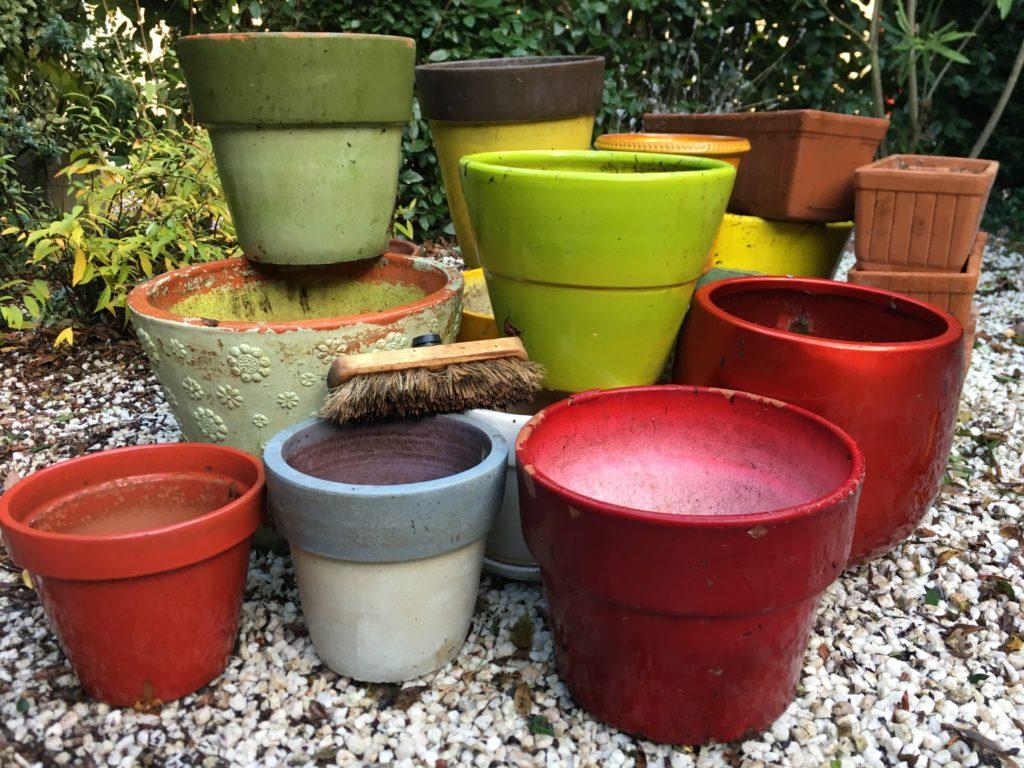 Pots et jardinières / Un jardin dans le marais poitevin.