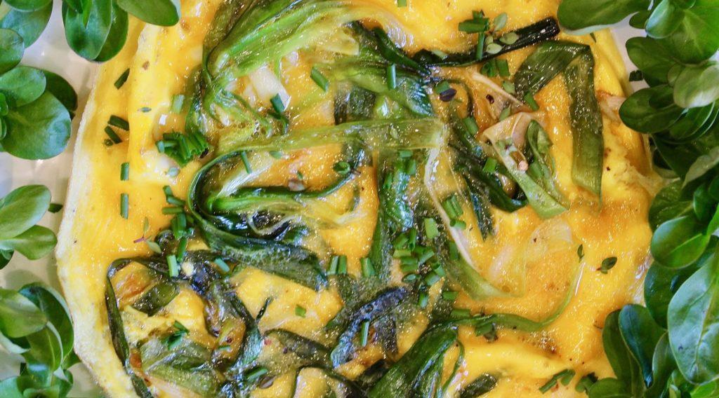 Omelette à l'ail vert / Un jardin dans le Marais poitevin.