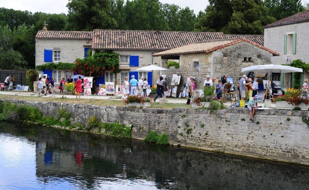 Festival de peinture de Magné, les 20 et 21 juillet 2019.