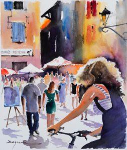 Jean-Guy Dagneau, grand prix 2016 du Festival de peinture de Magné.